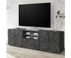 Kasalinea Meuble TV 180 cm design anthracite DOMINOS 5