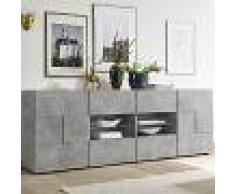 Kasalinea Enfilade 240 cm design grise effet béton DOMINOS 4