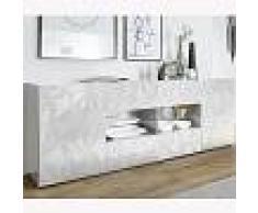 Kasalinea Enfilade 2 portes 4 tiroirs design blanc laqué NINO