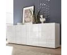 Kasalinea Enfilade 240 cm design blanc laqué NERINA