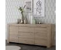 Kasalinea Enfilade contemporaine 180 cm couleur chêne clair AGATHE