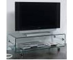 Kasalinea Meuble TV en verre transparent design CANDY