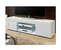Kasalinea Meuble TV blanc laqué brillant design NEWLAND