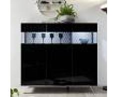 NOUVOMEUBLE Buffet haut LED noir laqué design CASTELLI 7