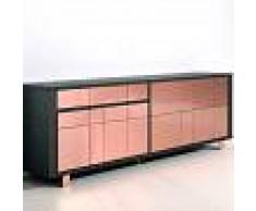 NOUVOMEUBLE Buffet moderne noir et couleur cuivre MILONI
