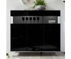 NOUVOMEUBLE Buffet haut lumineux design noir laqué CASTELLI 6
