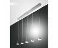 Fabas Luce Suspension Fabas Luce Dunk LED Aluminium, 5 lumières - Moderne - Intérieur - Dunk - Délai de livraison moyen: 2 à 3 semaines. Port gratuit France métropolitaine et Belgique dès 100 €.