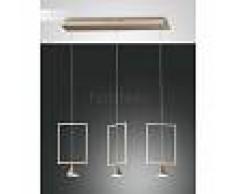 Fabas Luce Suspension Fabas Luce Sirio LED Or, 3 lumières - Design - Intérieur - Sirio - Délai de livraison moyen: 2 à 3 semaines. Port gratuit France métropolitaine et Belgique dès 100 €.