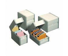 Boîte à fiches Nobo Classement en largeur 15 x 10 5 cm Gris