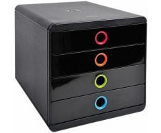 Module de classement Exacompta Pop-Box 4 27 8 x 34 7 x 26 7 cm Noir arlequin