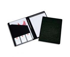 Conférencier Rexel Croc - format A4 - couverture motif croco noir - carnet de notes inclus