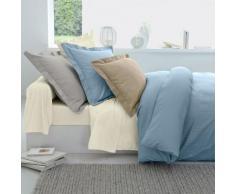 Linge de lit en satin rayé - bleu