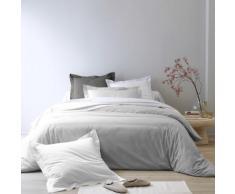 Linge de lit uni percale - gris perle