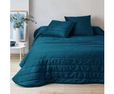 Couvre-lit velours - bleu paon