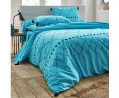 Linge de lit Massai coton - bleu