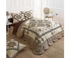 Couvre-lit patchwork - taupe