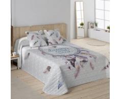 Couvre-lit matelassé imprimé attrape-rêves - blanc