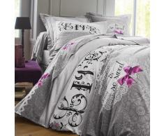 Linge de lit Clothilde coton - gris