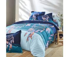 Linge de lit Plumes coton - marine