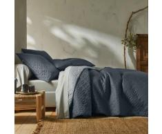 Couvre-lit bicolore - gris / gris clair