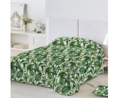 Couvre-lit imprimé matelassé - vert