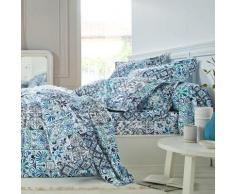 Linge de lit Carly coton - bleu