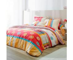 Linge de lit Zazy polyester coton - corail