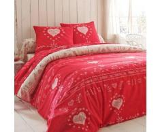 Linge de lit Anceny coton - rouge