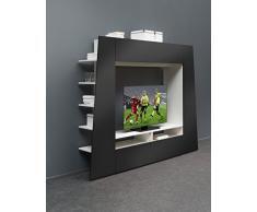 BM Diffusion-Meuble TV Burgos Design Moderne Noir