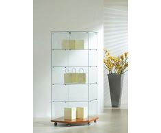 MHN Vitrine dangle verrouillable en Verre Grand vitrine en Verre roulable Cerisier 68 x 40 cm