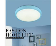 yxhflo Lampe de plafond LED lumière chaude chambres romantique moderne minimaliste circulaire les garçons et filles d'appareils d'éclairage pour chambre d'enfant Plafonniers,35cm bleu blanc monochrome Light