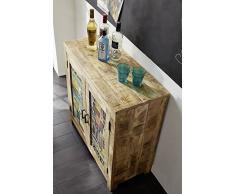 meuble vintage en bois de manguier massif laqu commode en bois massif multicolore massivmbel detroit