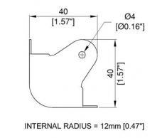 Armoire d'angle Interne Radius 12 mm – Noir ou Nickel Noir