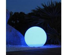 Lumisky 303092 Contemporain Boule Sphère Lumineuse sans Fil + Télécommande avec LED à Économie dÉnergie Polyéthylène Epais Multi colore Autonome 60 x 60 x 60 cm