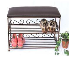 DanDiBo Etagère à chaussures avec banquette Art.165 Banc 60cm Armoire à chaussures en métal Rangement à chaussures Banc à chaussures