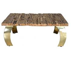 GINER Y COLOMER Opium Table Basse Doré 45 x 150 x 150 cm