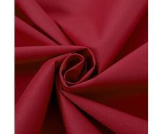 Deconovo Lot de 2 Rideaux Isolant Thermique avec Revêtement Argenté Salon Rideaux à Oeillets Imperméable 140x260cm Rouge