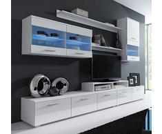 Design Ameublement - Meuble mural TV Claudia mod 6 Blanc (250cm)