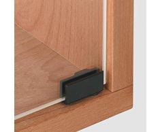Gedotec H5368 Charnière de porte en verre pour vitrine et portes – Charnière pour vitre & bois Angle d'ouverture 170° 1 paire (2 pièces)