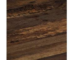 Table Basse Table D'appoint Table de Salon de Style Industriel Opium Bois de Traverse et Acier 80 x 78 x 35 cm Rétro pour Jardin, Balcon, Terrasse, Intérieur, Extérieur