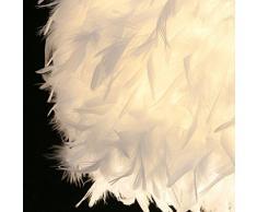 LEDMOMO Lampes suspendues - Plafonniers blancs d'ombre de plume avec le support de lampe d'E27 pour la chambre à coucher de salon