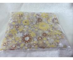 Rideaux Salon Design Moderne Kolylong Imprimer Floral Voile Porte FenêTre Sheer Rideaux Chambre Rideau Divider Rideau De Porte 100x200cm (Orange)
