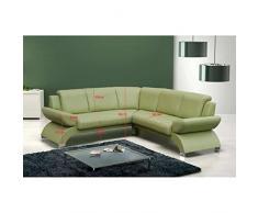 JUSThome ORION BIS Canapé d'angle en cuir écologique (L x P): 225 x 225 cm Rouge