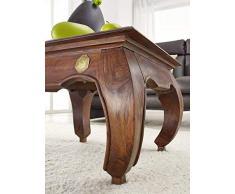 Massivmöbel table basse en acacia meuble 60 x 60 bois massif nougat opium#612