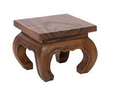 Handelsturm Table Basse dopium, 20x20x25 cm, Artisanal, Fait de Massif Bois, Naturel