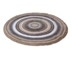 Meusch 2253271521 Mandala Tapis de bain Polyacrylique Taupe 100 x 100 x 2 cm