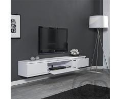 Coup de Cœur Design - Meuble Tv Suspendu Laqué Blanc Design