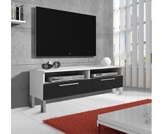 Design Ameublement - Meuble TV modèle Cozumel PT blanc et noir (100cm)