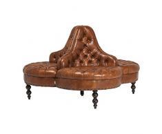 Canapé rond Saloon marron Kare Design