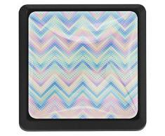 Z&Q Ondulation de Couleur Romantique Boutons de Commode Boutons carrés en Verre de Cristal pour la décoration de la pièce (3pcs) 37x25x17mm